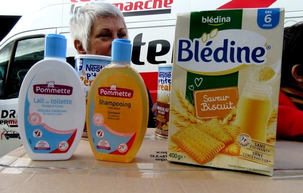 Le Zonta Club Châtillonnais  a offert des produits aux bébés des Restos du Cœur