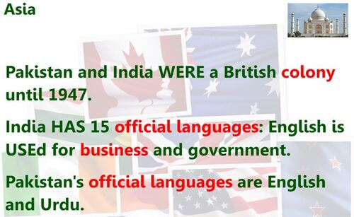 CM2/3 - English-speaking continents & countries
