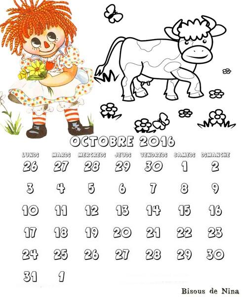 Tutoriel 45 2016 Comment faire son calendrier en page A4 pour l'imprimer