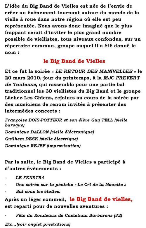 Le Big Band de Vielles