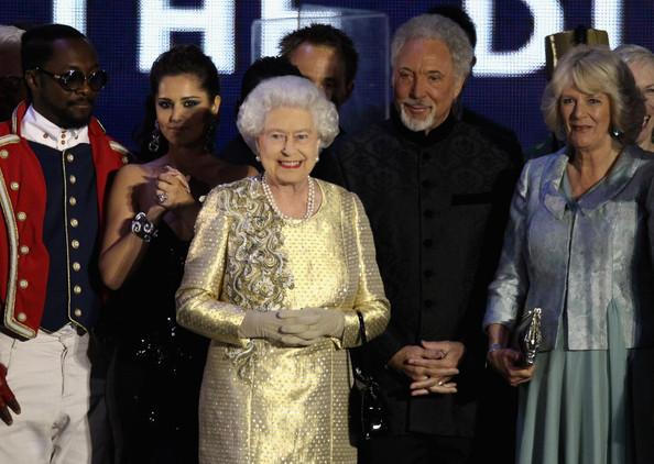 La reine au concert