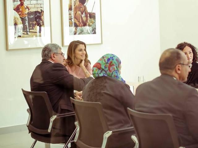 Rania à la fondation