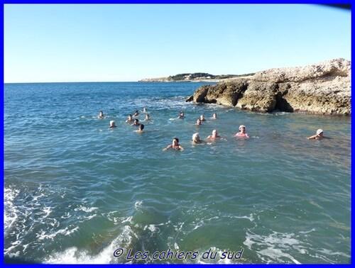 Bain de mer du début d'année