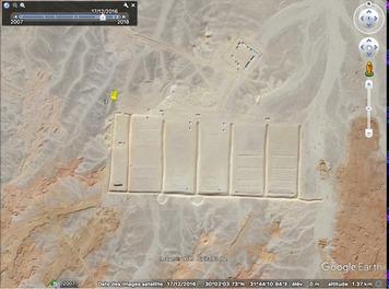 Des étranges structures dans le désert