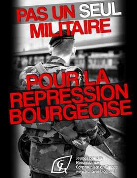 Sentinelles : pas un seul jeune militaire pour la répression bourgeoise ! (JRCF-22/03/19)