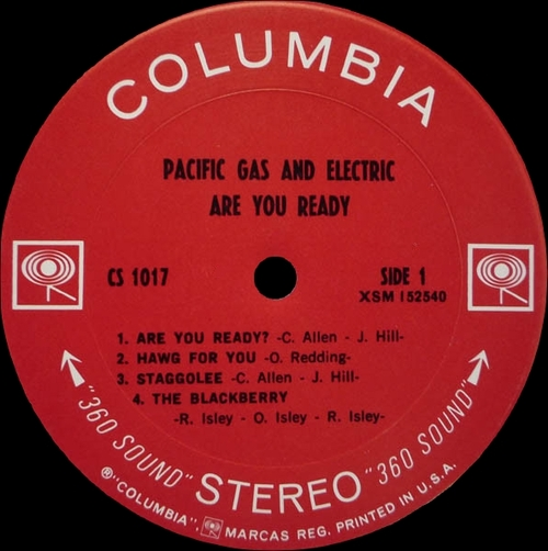 "Pacific Gas & Electric : "" Are You Ready "" Columbia ‎Records CS 1017 [ US ]"