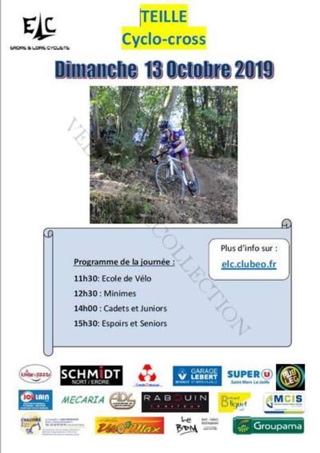 Teillé 13 octobre 2019 affiche cyclo cross 1