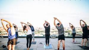 dance ballet class yoga outdoor yoga class