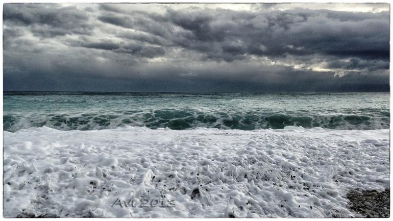Mauvais temps sur la Cote d'Azur!