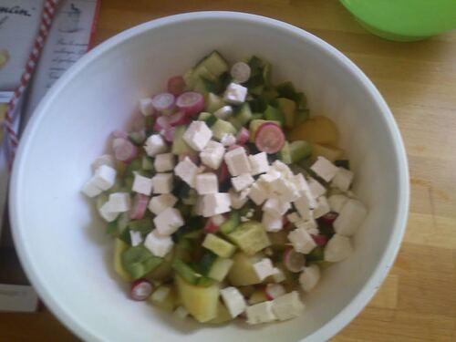 Une salade de pomme de terre toute en légèreté