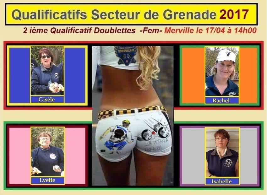 2ième Qualificatif Secteur Doublette Féminin