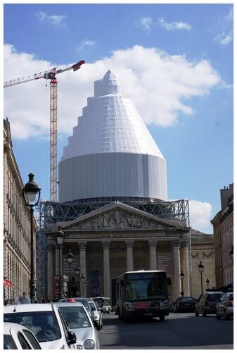 Paris. Travaux au Panthéon