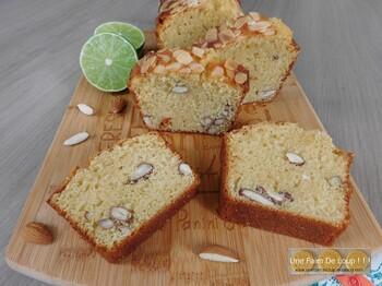 Cake aux amandes et au citron vert