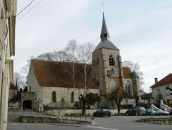 L'église de Jouy sur Morin