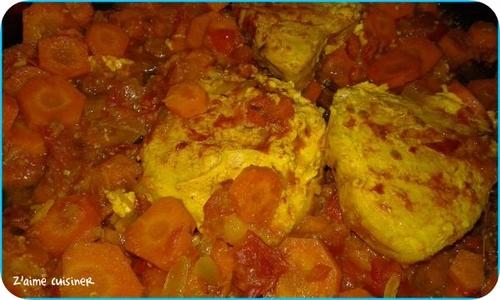 Escalopes de marlin aux carottes