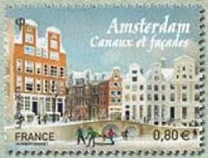 UN BLOC FEUILLET LES GRANDE CAPITALE EUROPEENNE AMSTERDAM PAYS BAS