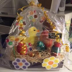 Corbeille de Pâques (ensemble des réalisations du mois pascal)