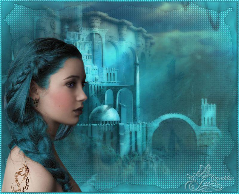 La femme à la tresse bleu