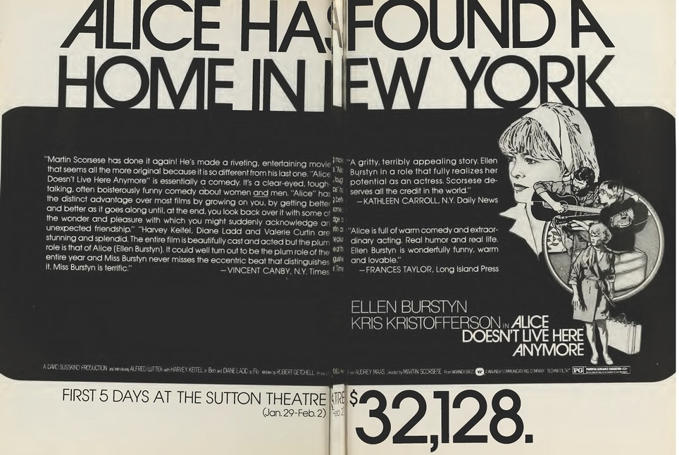 ALICE DOESN'T LIVE HERE ANYMORE box office usa 1974