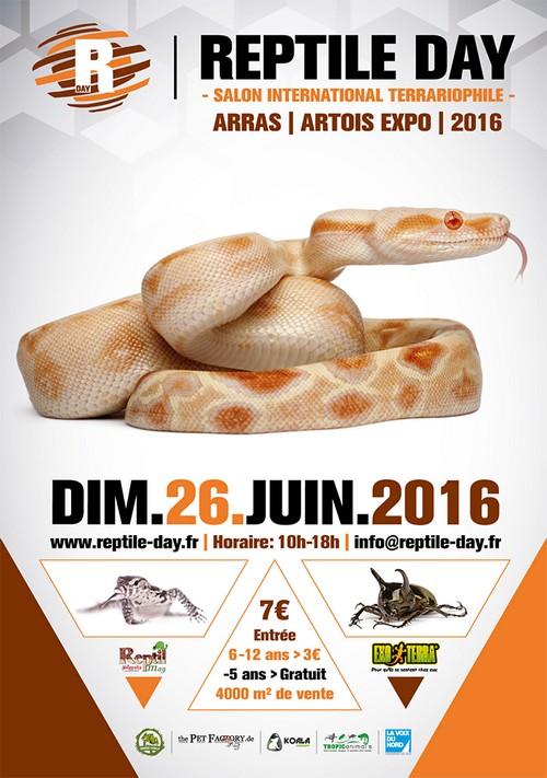 Reptile Day à ARRAS et Journée des moulins à ACHICOURT ce dimanche 19 juin 2016.