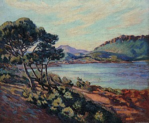 Armand Guillaumin Paintings The Bay of Agay 1910