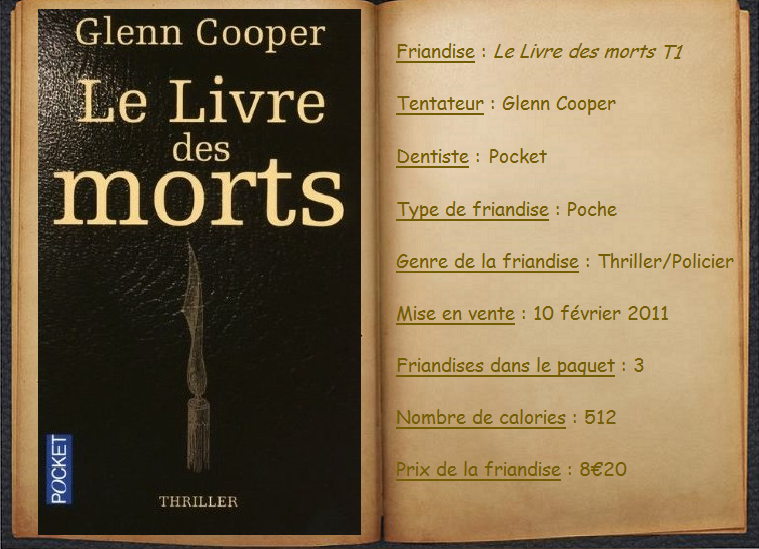 Le Livre Des Morts Glenn Cooper Books Feed Me More
