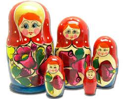 La matriochka poupée russe & les poupées gigognes