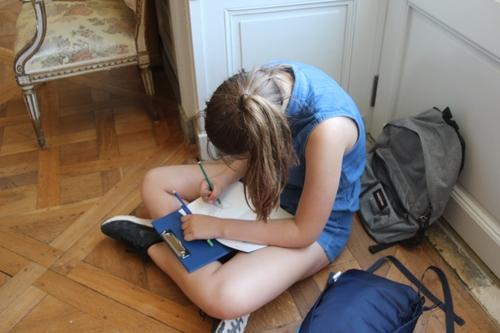 Croquis au château de la Motte-Tilly