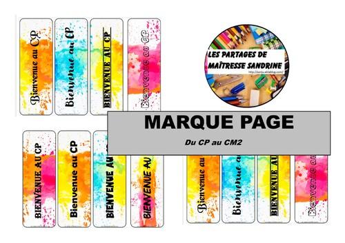 Marque page coloré