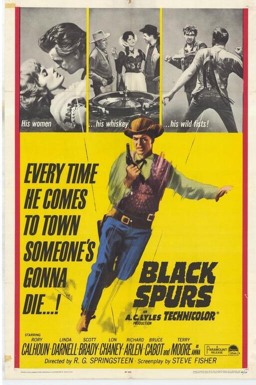 BLACK SPURS BOX OFFICE USA 1965