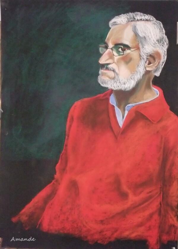 Jeudi - Portrait d'un homme au pull rouge
