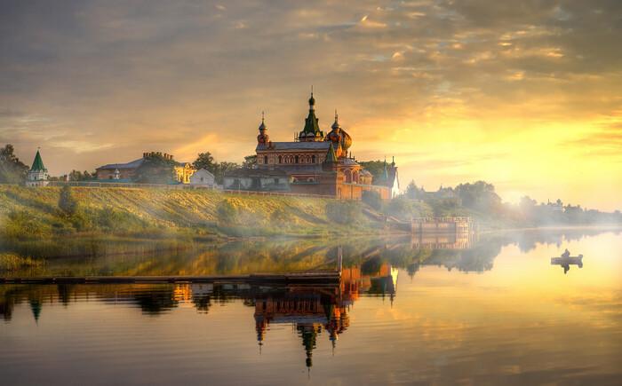 Photos d'une exposition de photographie de paysage à Moscou