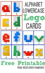 Alphabet Lego Cards: Lowercase {free printable!} -