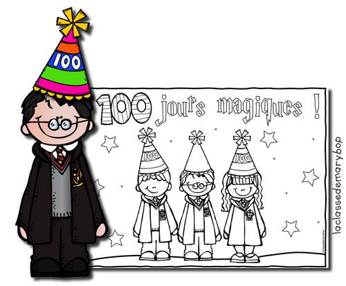 Harry Potter - Coloriage - 100 jours d´école