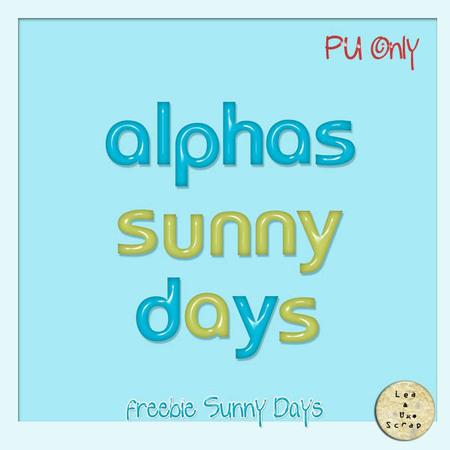 SUNNY DAYS de LEAUGOSCRAP + Freebies
