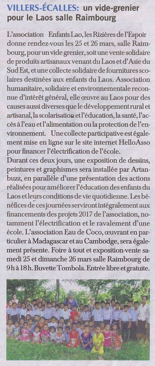 Article Paris Normandie - week end solidaire mars 2017