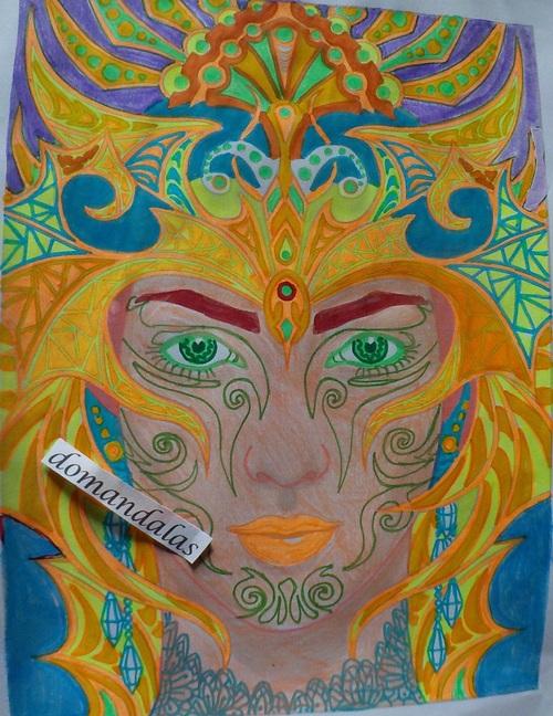 DOMANDALAS  coloriage magical beauties de Cristina mCallistair