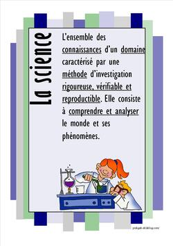 Affiche sur la science