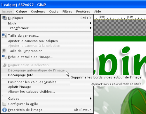 [tuto GIMP 2.8] Enlever le vide