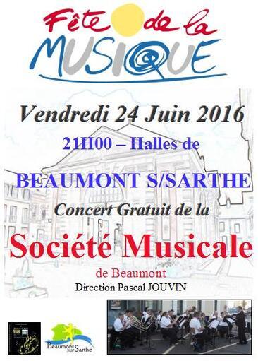 Fête de la Musique à Beaumont le 24 Juin 2016