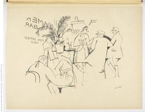 Have a Drink (Armentiers - 1916) - André Mare, Dessins faits aux armées (gallica)