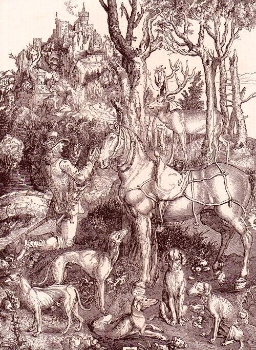 Saint Hubert, par Albrecht Dürer