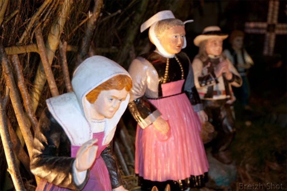 Crèche Noël bretonne - Guiscriff - pays Pourlet