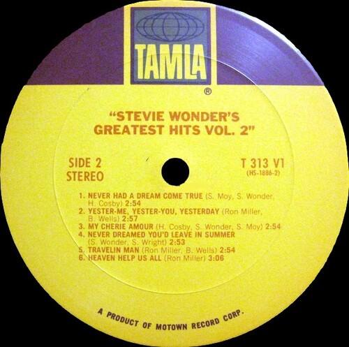 "Stevie Wonder : Album "" Stevie Wonder's Greatest Hits Vol. 2 "" Tamla Records T 313L [ US ]"