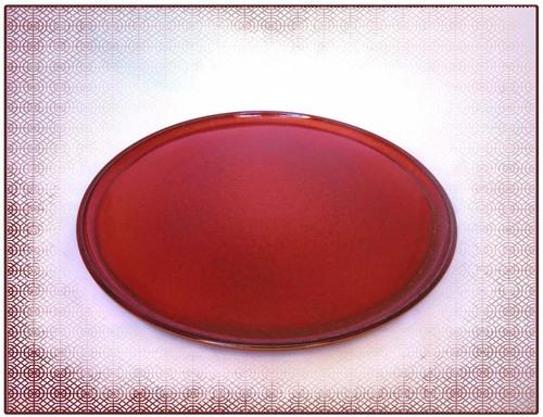 Plat à tarte rouge