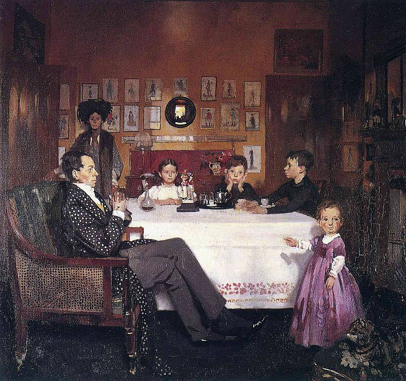 Sir William Orpen , A Bloomsbury Family , 1907