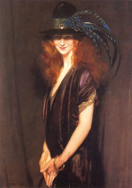 Sir William Orpen , Bridgit – a picture of Miss Elvery , 1909