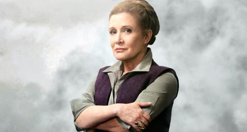 Carrie Fisher dans la suite de Star Wars