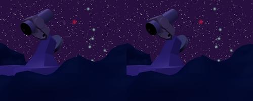 Un télescope sur fond de ciel étoilé