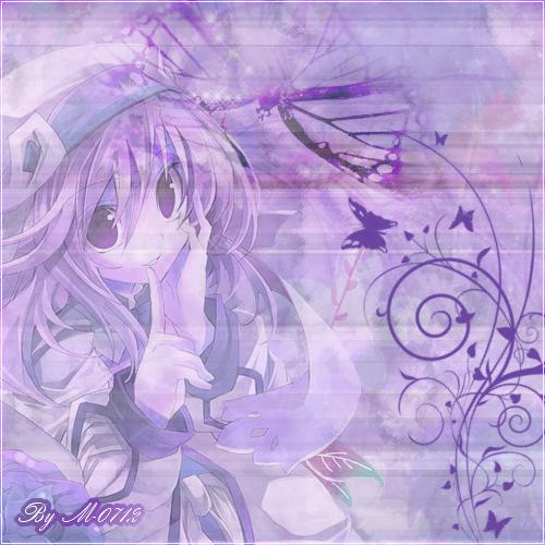 Montage violet...